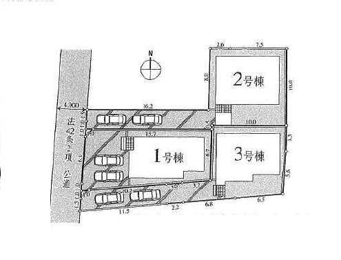 【価格↓東村山市野口町4丁目 新築戸建分譲全3棟  駅歩8分】間取図面