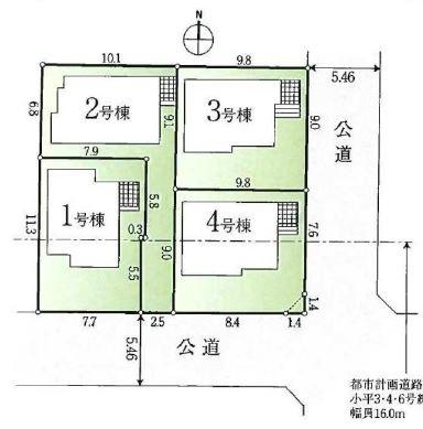 【小平市学園西町2丁目 新築戸建分譲4棟 駅歩3分】間取図面