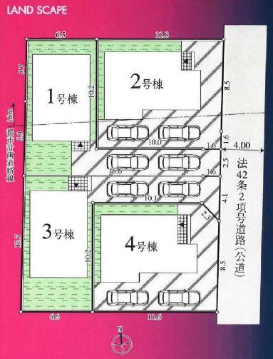 【価格↓国分寺市本多4丁目 新築戸建分譲4棟 駅歩14分】間取図面