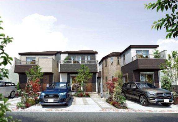 【小平市御幸町 新築戸建分譲3棟 ゆとりのある贅沢な家】外観写真