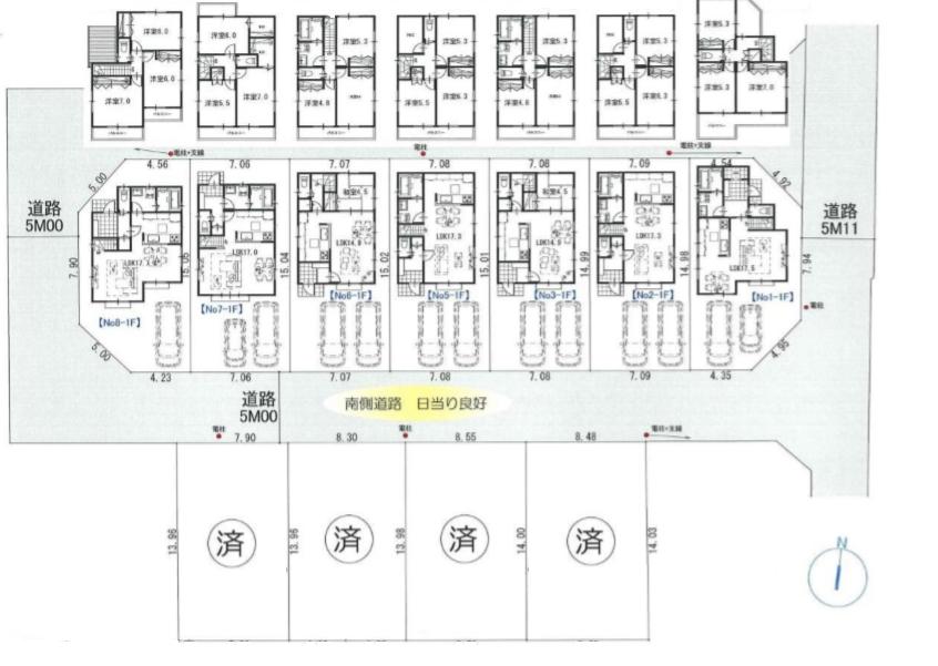 【価格↓東村山市本町3丁目 新築戸建分譲全2棟+土地分譲7区画】間取図面